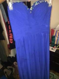Blue sweetheart neckline prom dress