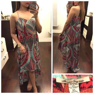 Aztec Colourful Pattern Longback Summer Dress