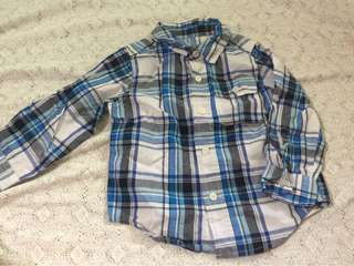 Authentic Baby Gap for boys polo long sleeve