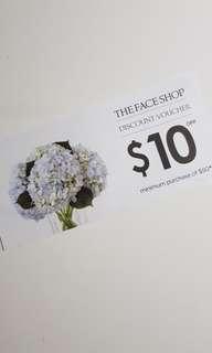 The face shop $10 voucher