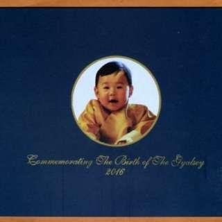 🚚 【藏閣】不丹2018年100-Ngaltum龍太子1歲紀念紙鈔