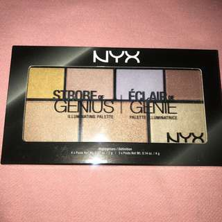 NYX strobe genius highlight palette