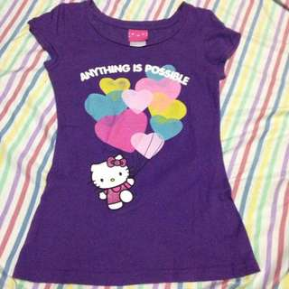 Kitty tshirt w/ hearty short