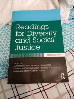 New Readings for Diversity and Social Justice (ACS Intro to Diversity and Equity)