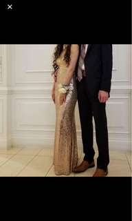 REDUCED PRICE Rose Gold Sequin Prom Dress