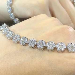 🇯🇵💎十克拉鑽石手鍊 鑽石質量很高 清透度和火彩都超棒 鑽石10ct Diamond bracelet