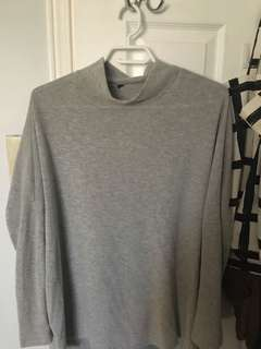 Light grey mock neck sweater