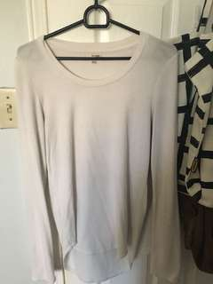 Aritzia white long sleeve