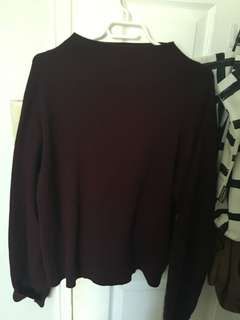 H&M mock neck sweater