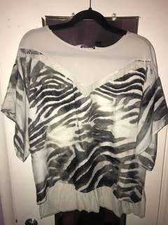 Zara Zebra Top