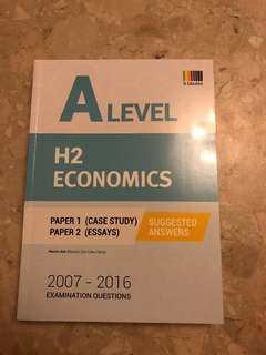 H2 Economics A level Past Paper (Yearly 2007-2016) with answers