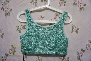 Forever 21 Sequined Cropped Top