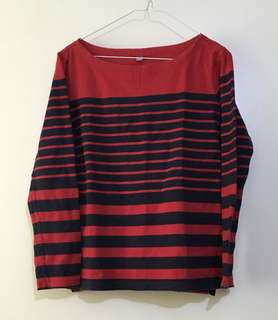 Charity Sale! Authentic Uni Qlo Uniqlo 100 percent Cotton Long Sleeve Women's Sweater Size Large