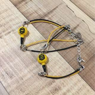 Miniature Sechskies Light Stick Bracelet | Stainless Steel | Yellowkies Bracelet | 젝스키스 Sechs Kies