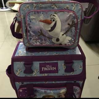 Frozen school stroller bag