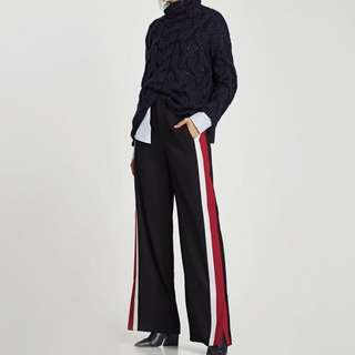 Zara trousers w/ side stripe