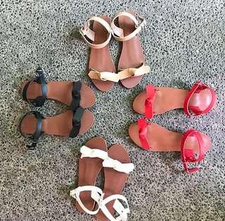 Jessa Tie Knot Sandals