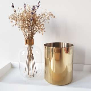 Gold pen holder/brush holder