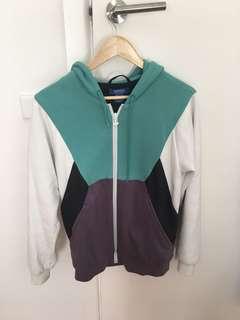 Adidas hoodie green/purple