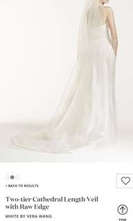White by Vera Wang two tier veil