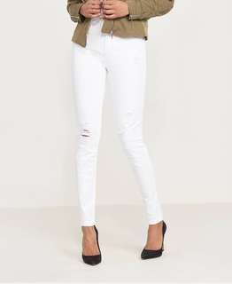 Dynamite High Waisted Distressed Skinny Jean
