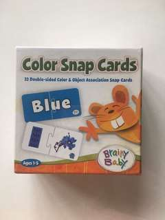 Brainy Baby Color Snap Cards (brand new)