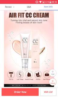 W.Lab Peach Glow CC cream - Air Fit