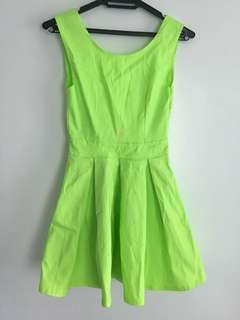 neon dress (backless)