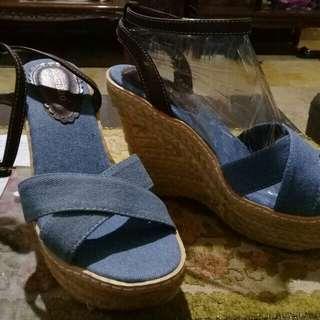 Original bamboo wedge shoes