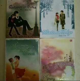 "Novel Best Seller Ilana Tan 4 Musim ""Autumn in Paris"" , Winter in Tokyo"" , ""Summer in Seoul"" , ""Spring in London"""