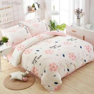 FREE POS Ready Stock Comforter Bedsheet Set 6 In 1