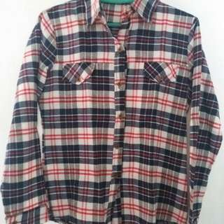 Long Sleeves Polo/Flannel Stripes
