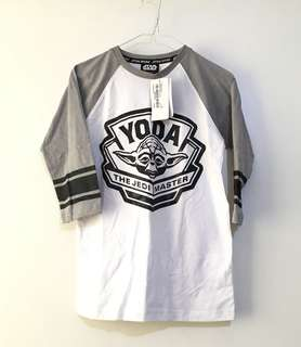 Charity Sale! Authentic Star Wars Yoda Cotton Brand New with Tags Size XS Shirt Top