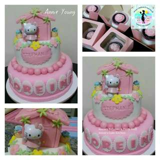 Hello Kitty Cake and Party Giveaway Cupcakes