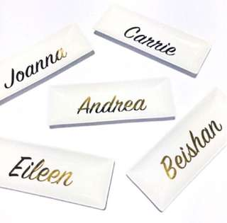 Custom Made Personalised Name Jewellery Tray Birthday Wedding Door Gifts