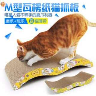 Cat Kitten Claw Scratching Board Pad (45cm x 21cm x 7cm)