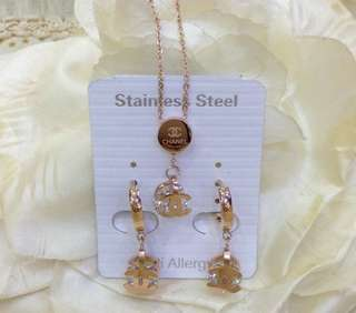 Anting Kalung CHANEL 1 set