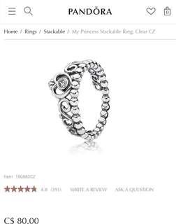 Pandora Stackable Ring (US 5)