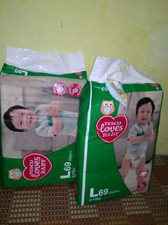 pampers(tesco love)..size L