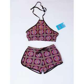 Halter Top & Shorts Swimwear