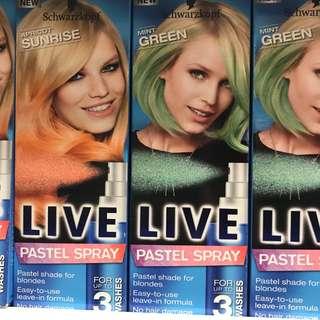 Schwarzkopf Hair Pastel Spray Live