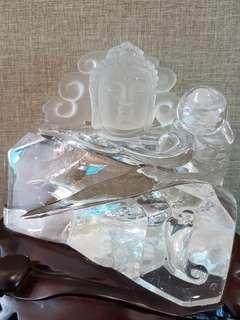 白水晶摆件