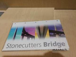 Hong Kong Post Stamp 香港郵政郵票套摺昂船洲大橋小型全張stonecutters bridge sheetlet