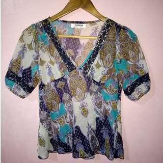 Boho cover up or seethrough blouse