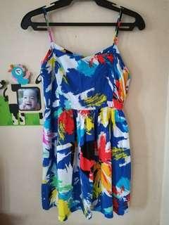 Zara inspired paint splash dress