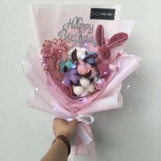 Fairy Lights Korean Style Flower Bouquet