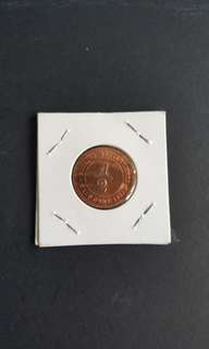C72 Victoria Queen Straits Settlements 1883 1/2 Cent