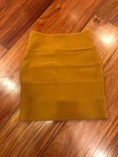 Topshop bandage skirt (mustard yellow)