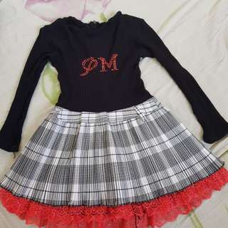 Black and Red Black Dresss for ages 3 to 5