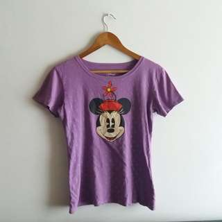 (Repriced) Disney Tshirt in Purple